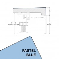 Just Trays Evolved Quadrant Riser Panel Kit for Trays Up-To 1000mm Wide Pastel Blue