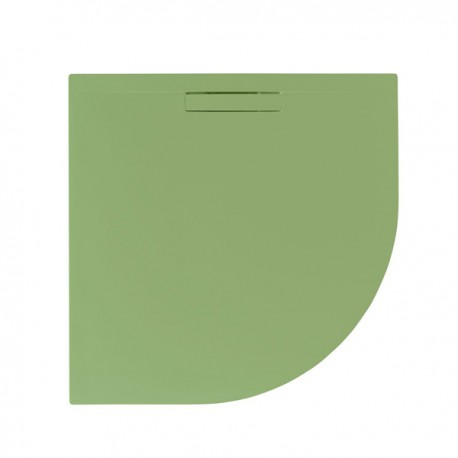 Just Trays Evolved Quadrant Shower Tray 800x800mm Sage Green