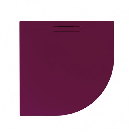 Just Trays Evolved Quadrant Shower Tray 900x900mm Malbec Red