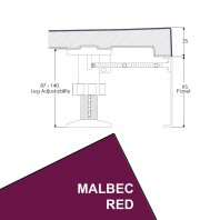 Just Trays Evolved Rectangular Riser Panel Kit For Trays Up-To 1800mm Wide Malbec Red