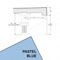 Just Trays Evolved Rectangular Riser Panel Kit For Trays Up-To 1800mm Wide Pastel Blue