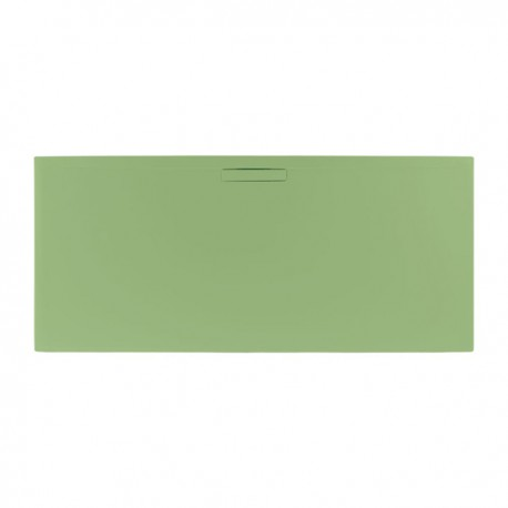 Just Trays Evolved Rectangular Shower Tray 1000x760mm Sage Green