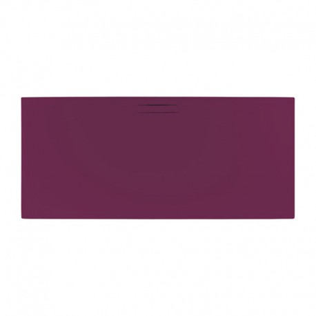 Just Trays Evolved Rectangular Shower Tray 1000x800mm Malbec Red