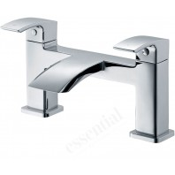 Essential CREST Bath Filler Tap, 2 Tap Holes, Chrome