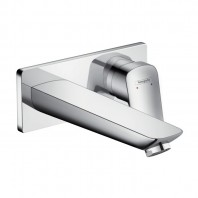 Hansgrohe Logis Single lever basin mixer for concealed installation with spout 195 mm wall-mounted