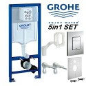 Grohe Rapid Sl 5in1 Set Frame Wall Hung Skate Cosmopolitan