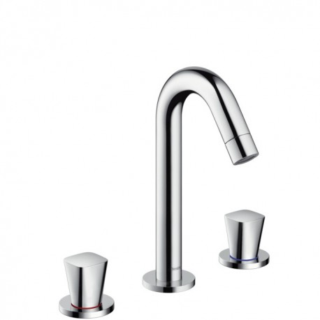 Hansgrohe Logis 3-hole basin mixer with pop-up waste set