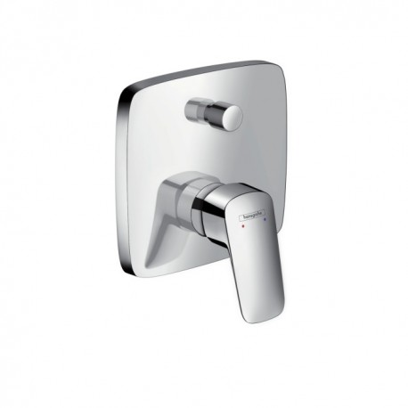 Hansgrohe Logis Single lever bath mixer for concealed installation with security combination