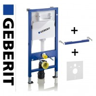 Geberit Duofix Basic Wc Toilet Frame Up100 Delta Cistern+brackets+wc Bend (112cm)