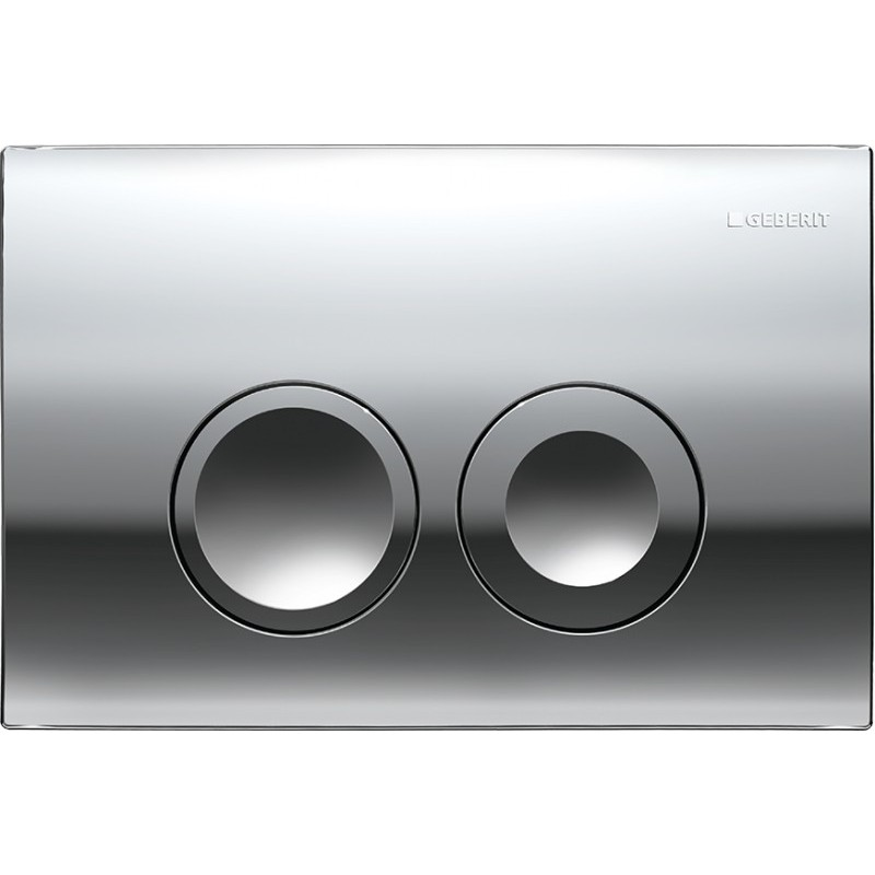 Geberit delta 21 flush plate chrome up100 for Geberit products