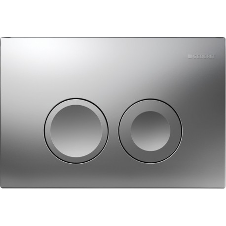 GEBERIT DELTA 21 FLUSH PLATE CHROME MATT UP100