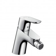 Hansgrohe Focus Single lever bidet mixer push-open waste set 1¼""
