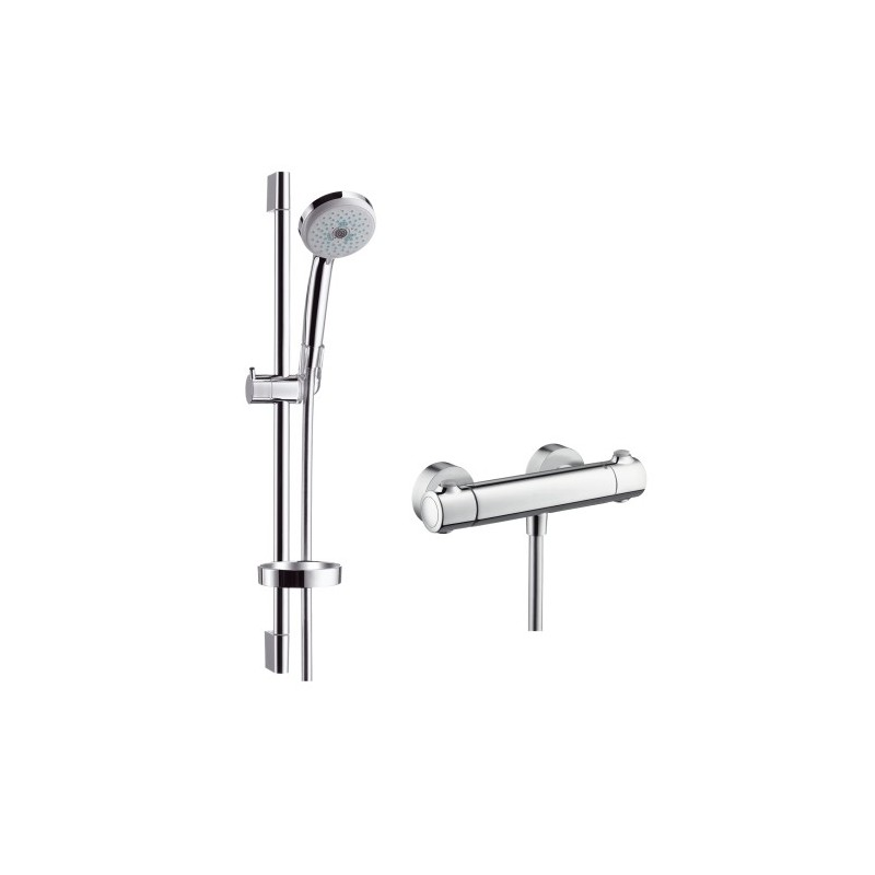 hansgrohe croma 100 multi ecostat 1001 sl combi. Black Bedroom Furniture Sets. Home Design Ideas