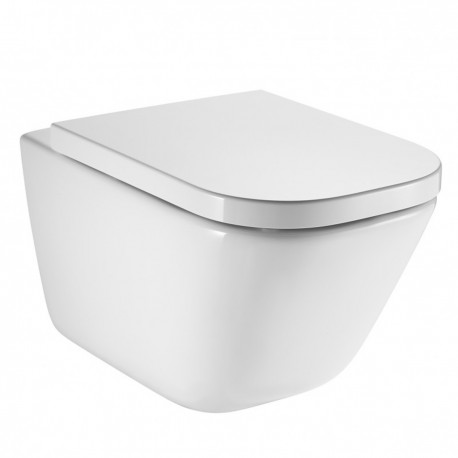 Roca Gap Rimless Wall Hung Toilet Pan With Soft Close Seat