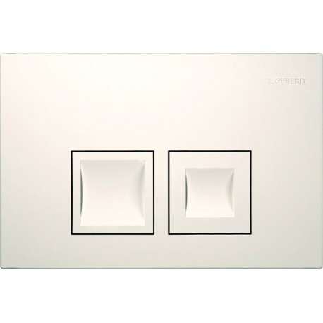 GEBERIT DELTA 50 FLUSH PLATE WHITE UP100