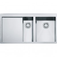 Franke Planar 1.5 Bowl Inset Square Stainless Steel Kitchen Sink PPX 251 ( Bowl On The Right Side )