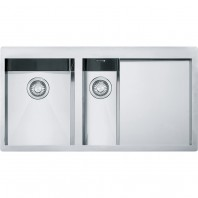 Franke Planar 1.5 Bowl Inset Square Stainless Steel Kitchen Sink PPX 251 ( Bowl On The Left Side )