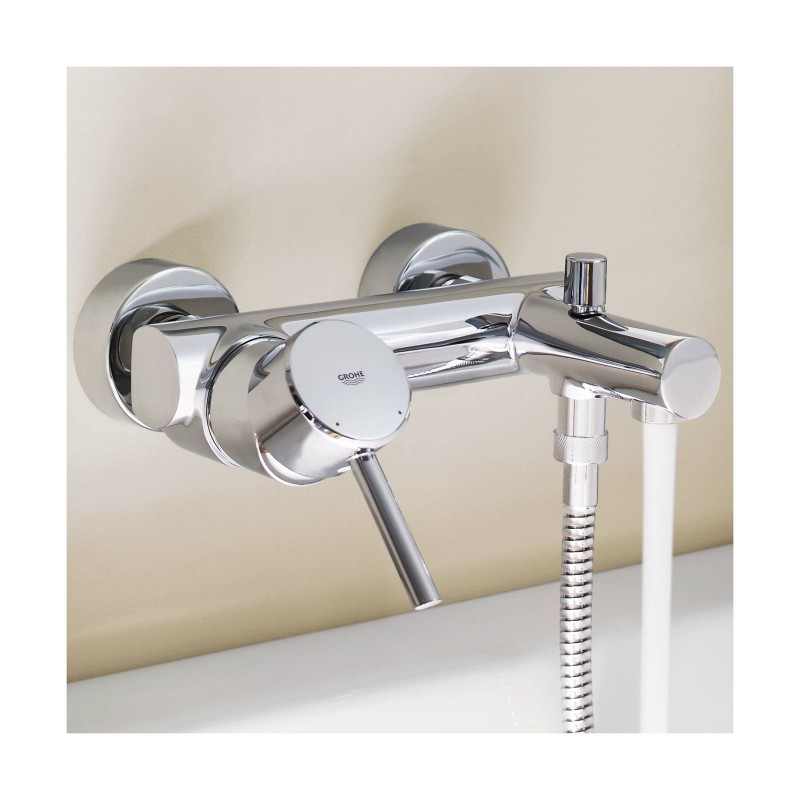Grohe Concetto Modern Single Lever Bath Shower Mixer Tap Wall Mounted