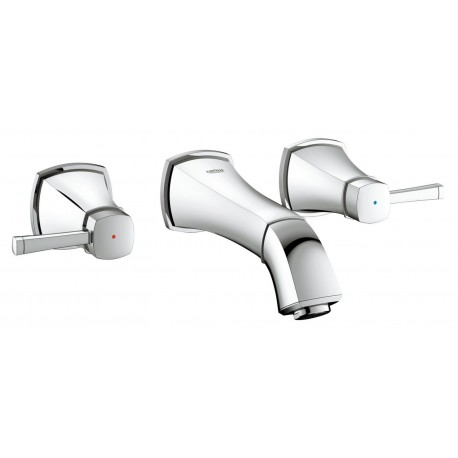 Grohe Grandera Three-piece Tap Hole Basin Mixer Tap Single Lever  Wall-mounted
