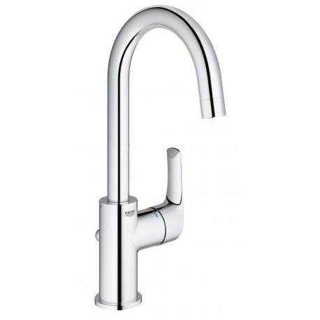 Grohe Eurosmart Basin Mixer Tap With Pop-Up Waste Set High Swivel Spout L-Size