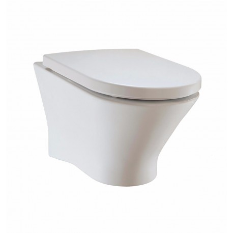 Roca Nexo Rimless Wall Hung Pan & Soft Close Seat