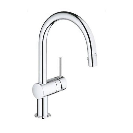 Grohe Minta Single Lever Kitchen Sink Mixer Tap Swivel Spout Pull Out Spray