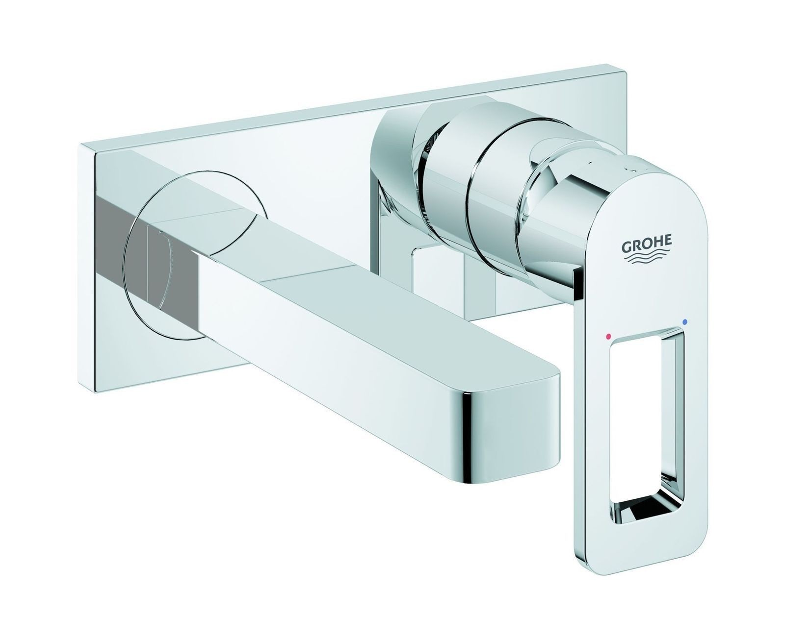 Grohe Quadra 2-hole Basin Mixer Tap Concealed Wall Mount Bathroom M...