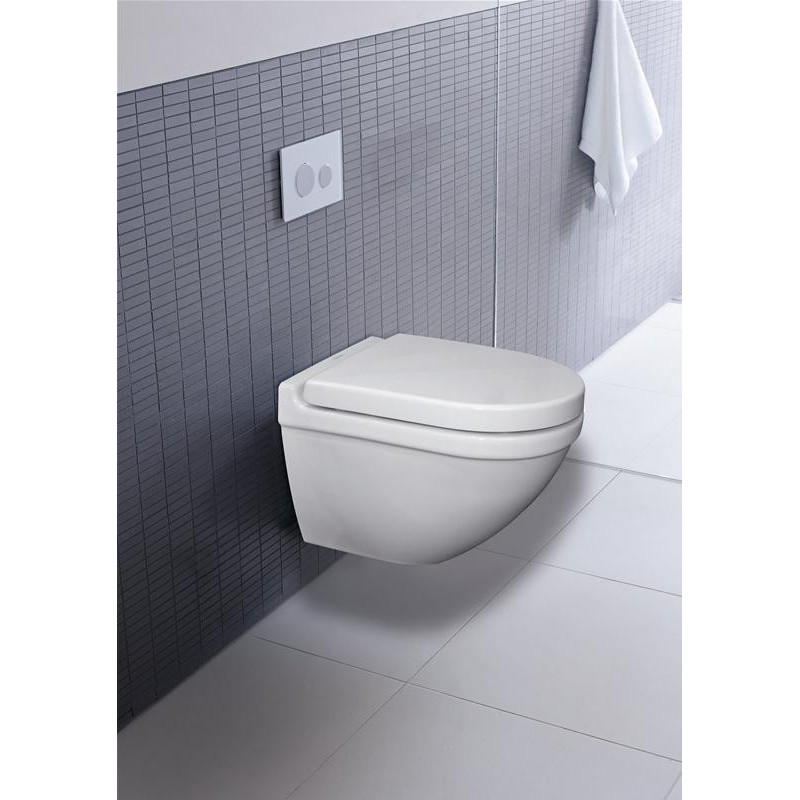 Duravit Starck 3 Wall Hung Rimless Toilet Pan With Soft