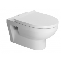 Duravit Durastyle Basic Rimless Wall Hung Toilet Pan With Soft Close Seat 2in1