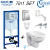 GROHE RAPID SL WC FRAME IDEAL STANDARD ALTO WALL HUNG TOILET PAN SOFT CLOSE SEAT