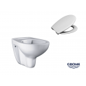 Grohe Bau Ceramic Rimless Wc Wall Hung Toilet Pan With Soft Closed Seat 2in1