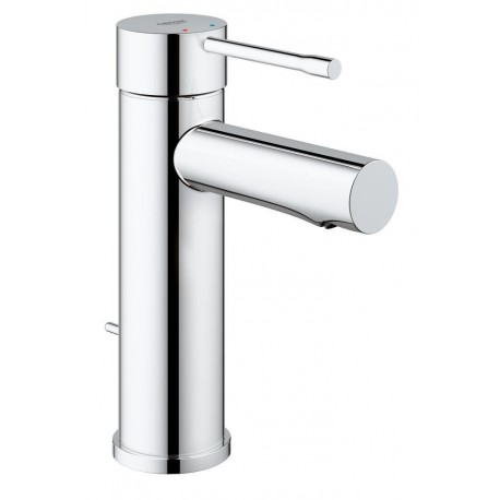 Grohe Essence Single Lever Basin Mixer Tap Modern Chrome Bathroom Pop-up Waste
