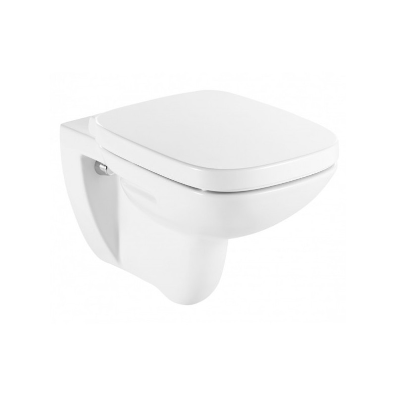 Roca Debba Square Wall Hung Toilet Pan With Soft Close Seat