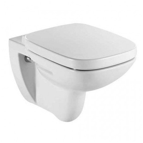 Roca Debba Rimless Square Wall Hung Toilet Pan With Soft Close Seat