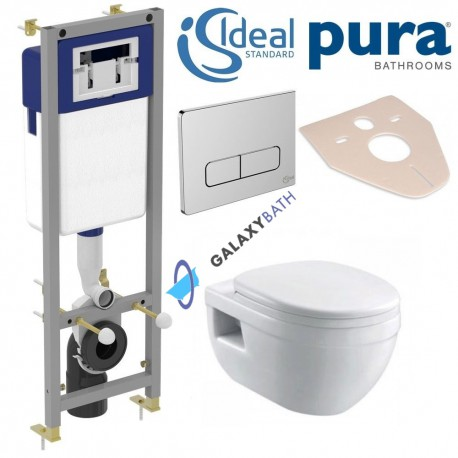 Ideal Standard Frame Pura Bathrooms Ivo Wall Hung Toilet Pan With