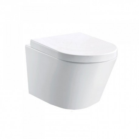 Arco wall-hung wc bowl and slim wrap over seat