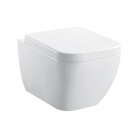 Essence Rimless Wall Hung WC Pan inc Fixings and slim quick release seat