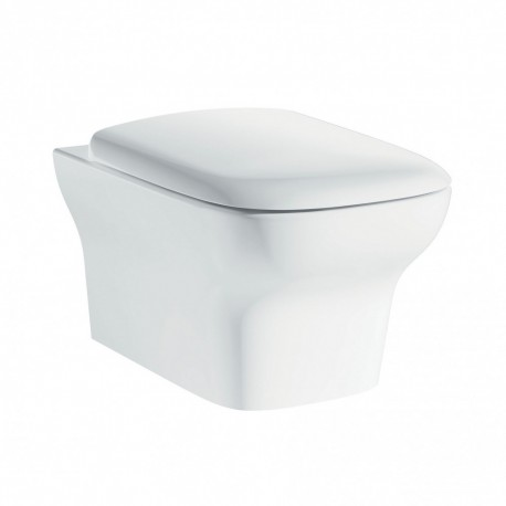 Grace wall hung rimless WC with luxury Puraplast seat
