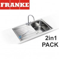 Franke Argos AGX 611-860 Stainless Steel sink & Athena Chrome tap