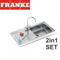 Franke Antea AZN 611-100 Stainless Steel sink & Athena Chrome tap