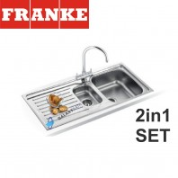 Franke Antea AZN 651 Stainless Steel sink & Athena Chrome tap