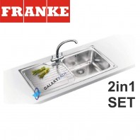Franke Galassia GAX 611 Stainless Steel sink & Zurich Chrome tap