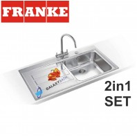 Franke Epos EOX 611 Stainless Steel sink & Athena Chrome tap