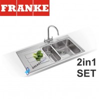 Franke Epos EOX 651 Stainless Steel sink & Athena Chrome tap