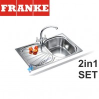Franke Erica EUX 611 78 Stainless Steel sink & Zurich Chrome tap