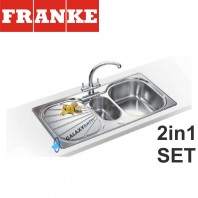 Franke Erica EUX 651 Stainless Steel sink & Zurich Chrome tap