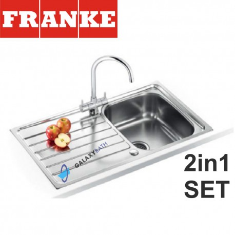 Spark SKX 611-86 Stainless Steel sink and Athena Chrome tap