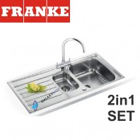 Franke Spark SKX 651 Stainless Steel sink and Athena Chrome tap