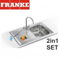 Neptune NEX 211 Stainless Steel sink & Athena Chrome tap