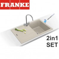Franke Basis BFG 611-780 Fragranite sink & Athena Chrome tap